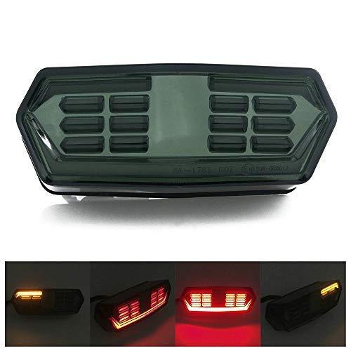 Heinmo Nuevo Motor LED luz Trasera Intermitente señal de Freno de Carrera Stop Indicadores para Honda MSX125 Rider LED luz Trasera lámpara Intermitente señal