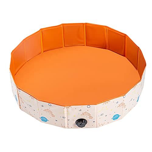 LYYP Kiddie zwembad, inflatievrije PVC huisdier zwembad, opvouwbare niet-lekkage, ronde draagbare badkuip voor kinderen…