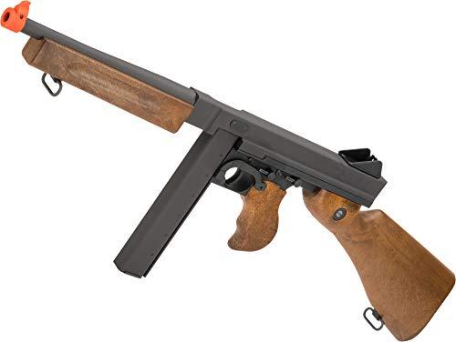 Evike Auto Ordnance WE-Tech M1A1 Thompson Gas Blowback Airsoft Rifle by Cybergun