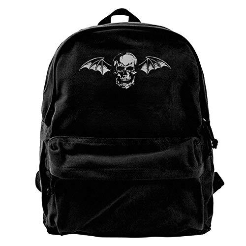 Mochila de lona Avenged Sevenfold Logo Mochila para gimnasio, senderismo, portátil, bolsa de hombro para hombres y mujeres
