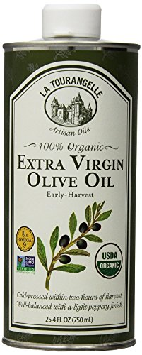 La Tourangelle 100% Organic Extra Virgin Olive Oil - For Olive Oil Lovers - Cold-Pressed, Non-GMO - 25.4 Fl. Oz. Pack of 2
