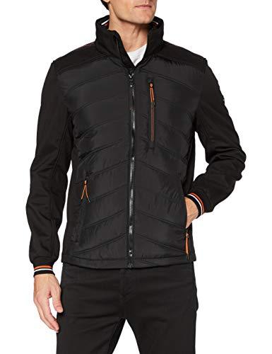 TOM TAILOR Herren Hybrid Jacke, 29999-Black, XXL