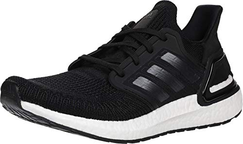 adidas Women's Ultraboost 20 Running Shoe, Black/Night Metallic/White, 8 M US