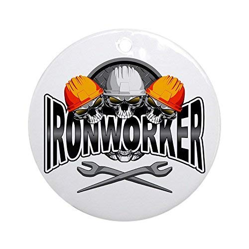FashionShine Ironworker Skulls-Holiday Christmas Ornament