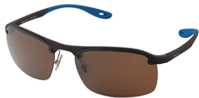 Despada DS 1927 C3 Brown-Lens Half-Frame Rectangular Sunglasses for Men - Brown