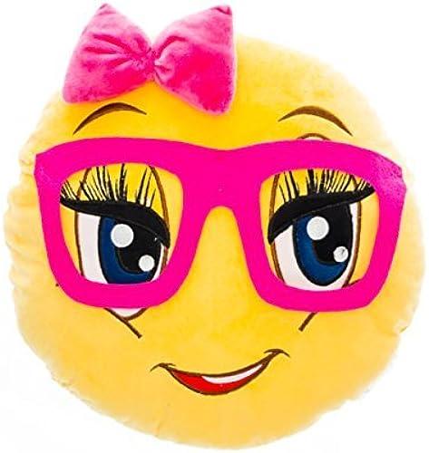 gran selección y entrega rápida Emojicon Emojicon Emojicon Nerd Girl Pillow (Nerd girl1) by Top Trenz Inc  moda clasica