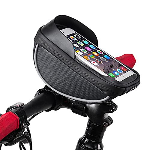 OEMC Bike Frame Bag, Accesorios Bicicleta Impermeable del Teléfono De La Bici De La Pantalla Táctil De La Manija De La Bicicleta para Debajo De 6.0' Teléfono Dia del Padre Regalos
