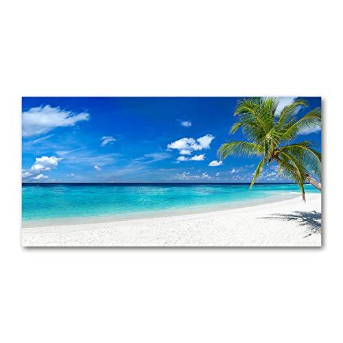Tulup Quadro su Vetro Immagine 120x60cm Artistica Stampa Pared Decoración - playa tropical