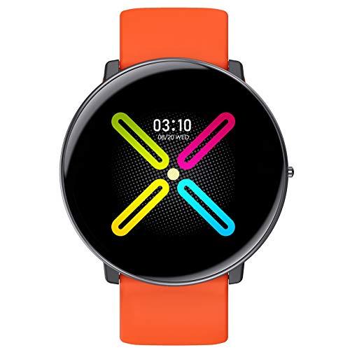 MMFFYZ Full Touch Smartwatch para iOS Android, Fitness Tracker Smart Watch Temperatura Cuerpo EKG Reloj De Aptitud Reloj De Corazón IP68 Reloj Inteligente Impermeable(Color:C)