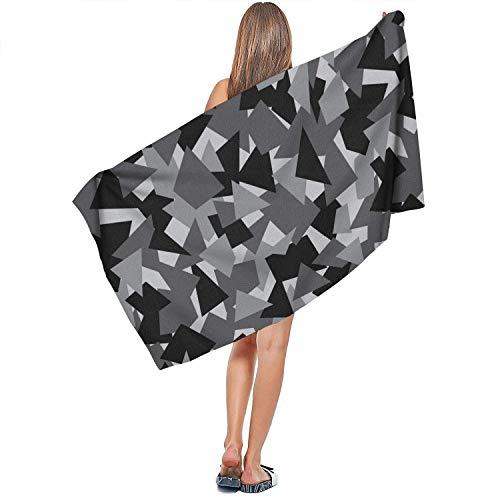 Zachte designer voor binnen en buiten, extra grote badhanddoek, comfortabel, Quick Dry, absorbeert camouflage, military modehanddoeken, 27,5 x 55 cm, luxe badkamerkleed