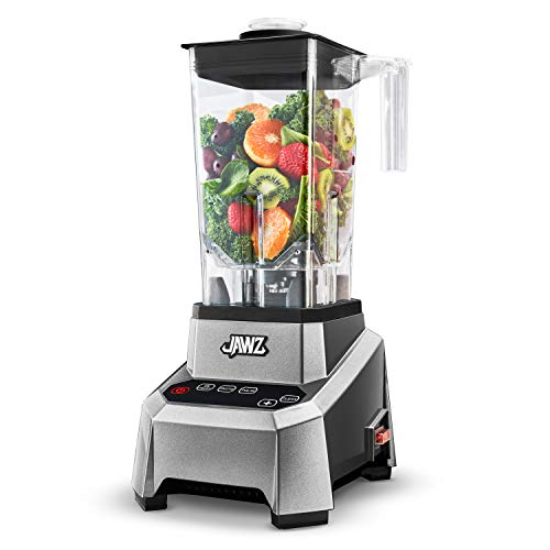JAWZ High Performance Blender - Precision Touch Variable Speed - Professional Grade Countertop Blender/Food Processor, 64 Oz, Silver