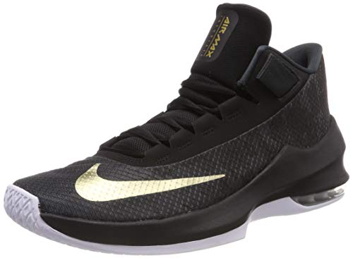Nike Herren Air Max Infuriate 2 Basketballschuhe, Schwarz (Anthracite/Metallic Gold/Black/White 002), 47.5 EU