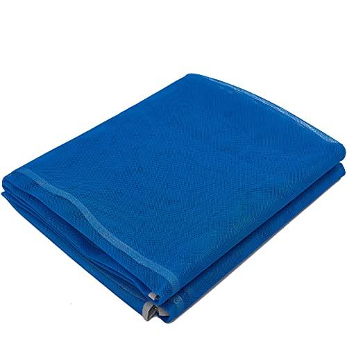 SUTAFOR Tapis de Plage Anti Sable Couverture de Pique-Nique 150x200 cm, Natte de Plage avec 4 Piquets Fixes, pour la Plage, Les Voyages, Le Camping, Bleu YC01-1
