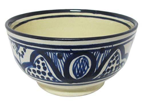 Bol en céramique marocain Ø env. 12 cm Safi Bleu/blanc