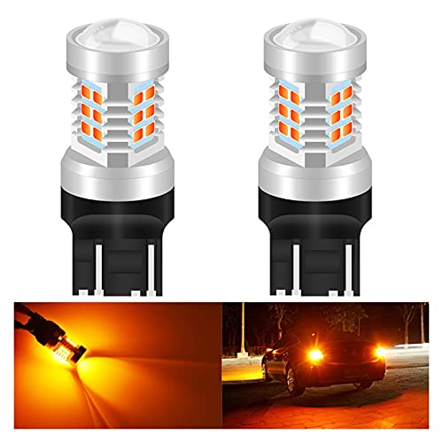 NERR YULUBAIHUO 2 unids T20 7443 W21 / 5W 7440 LED Auto Tail Freno Light Coche DRL Lámpara de conducción Copia de Seguridad Luz de inversión Encienda Las señales Bombilla 6000K White 12V