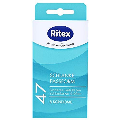 Ritex 47 condoom, 8 stuks, klein condoom met slanke pasvorm voor een veilig gevoel, Made in Germany, breedte 47 mm 8 St. transparant