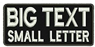 Custom Name Patch 2 Line Lettering Big and Small Letter Personalized Tactical Rucking Iron On Patch