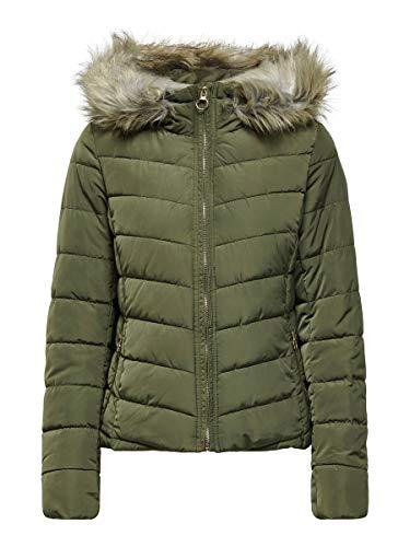 ONLY Dames Onlnewellan gewatteerde jas met capuchon OTW jas