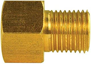 Brass Adapter, Female(7/16-24 Inverted), Male(1/2-20 Inverted), 10/bag