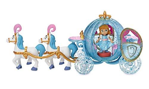 Disney Tienda Cenicienta Mini Playset, colección Disney Animators' Collection, incluye figura y carruaje con caballos