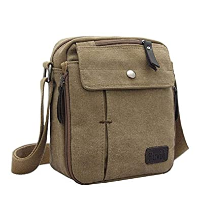 Small Shoulder Bag Travel Purse Casual Canvas Messenger Bags Mens Womens Crossbody Purse