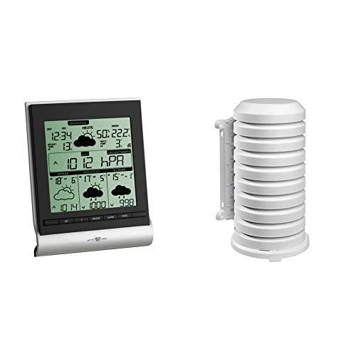 TFA Dostmann Genio 300 satellitengestützte Funk-Wetterstation, 35.5020.IT, mit Wetterdirekt Technologie und Profi-Wetterprognose & Schutzhülle für Sender Artikel, leicht zu montieren, weiß