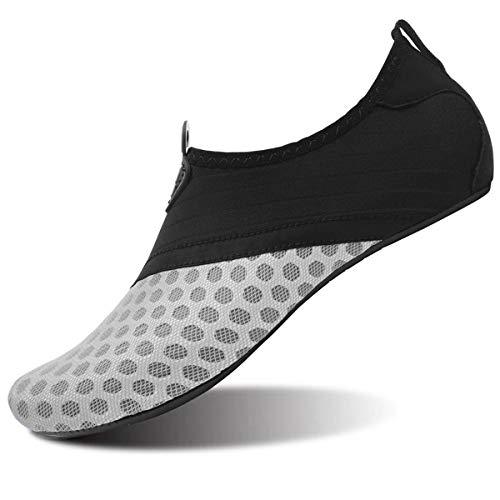 JOINFREE Mujer Zapatos De Natación De Agua Calcetines De Aqua Descalzo Zapatos para Piscina De Playa Surf Yoga Gris EU 35-36