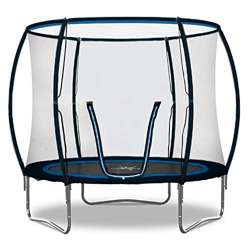 Rebo Jump Zone II Trampoline with Halo Safety Enclosure 2020 Model - 8FT