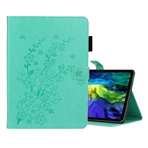 LESLEY LM For Plum Blossom Embossing Pattern Horizontal Flip Leather Case with Holder & Card Slot iPad Pro 11 (2020) 2021 NEW MODEL (Color : Green)