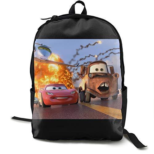 Cars Ligh-tning Mc-queen clásica mochila de viaje básica para la escuela resistente al agua Bookbag 12.5L* 5.5W* 16.5H en