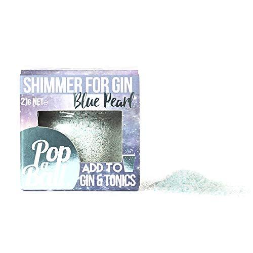 Popaball Blauer Perlenschimmer für G & Ts mit Blaubeergeschmack, 21 g