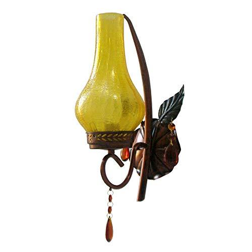 BDwantan Lámpara de pared para vestíbulo de vestíbulo de té, diseño retro, 21 x 34,5 cm