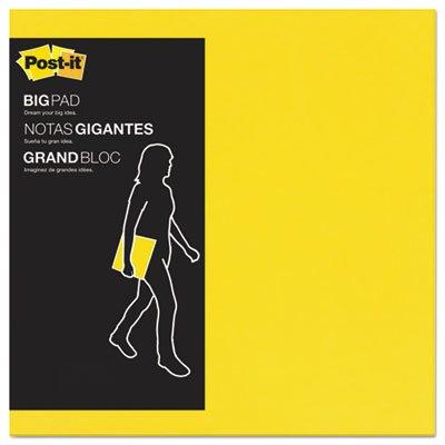 Big Pad, 11 x 11, Bright Yellow, 30 Sheets/Pad, Sold as 1 Pad, 30 Sheet per Pad