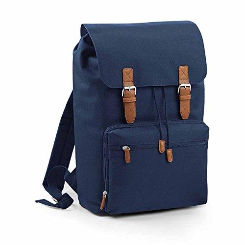 Bag Base-Zaino scomparto computer portatile-18L-bg613-Vintage Laptop Backpack-Colori blu navy