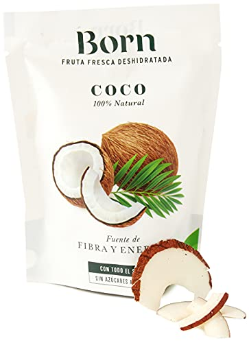 Born Coco - Fruta Deshidratada Ecológica - Vegetariano, Vegano, Paleo, sin Gluten, sin Lactosa, sin Azúcar Refinado - Doy Pack 40 G