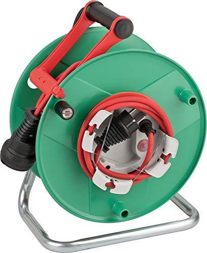 Brennenstuhl Garant G Bretec IP44 Gartenkabeltrommel (Kabeltrommel für Rasenmäher mit 38+2m Kabel in rot, Spezialkunststoff, kurzfristiger Einsatz im Außenbereich, Made in Germany)