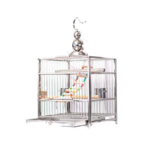 Ffshop Jaula para Pájaros Cajonera Cuadrada de Estilo cajón con Gancho Birdie...