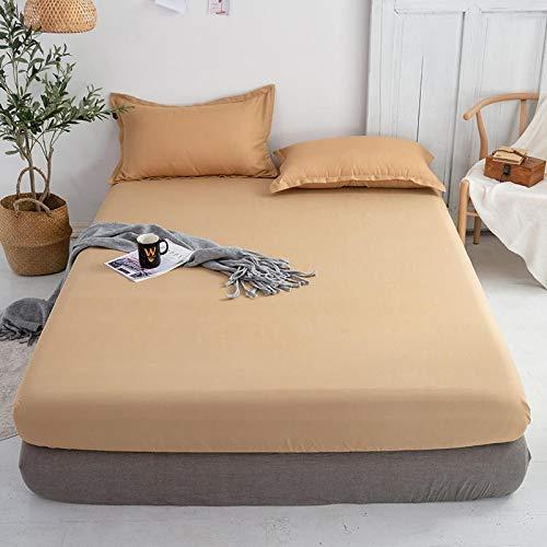 haiba sábana de una sola pieza funda protectora de colchón, cubierta de polvo antideslizante 150x200+2 fundas de almohada