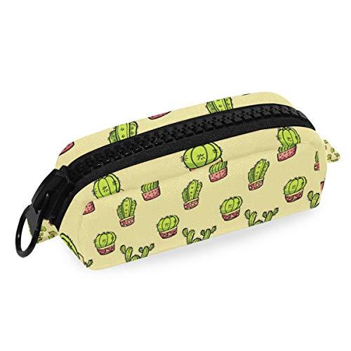 DEZIRO make-up tas reizen cosmetische tas Cactus in bloempot voor vrouwen meisjes make-up borstels tas