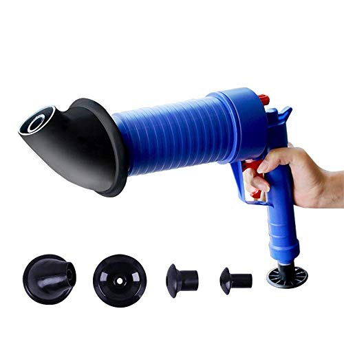 NBLYW hoge druk lucht afvoer pomp, zuiger lucht macht afvoer blaster met 4 pluggen, pijp Dredge gereedschap voor keuken, badkamer, Dredge pijp, riool afvoer