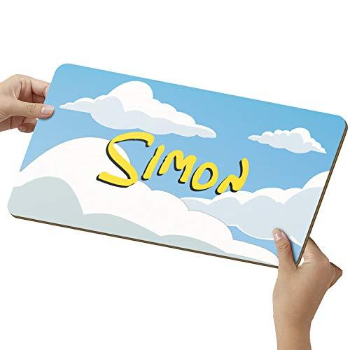 Elbeffekt Wolken Schild aus Holz - personalisierbares Geschenk für Männer - Zimmer Deko - personalisierbar zum Hinstellen/Aufhängen - Nerd Geschenk - persönliches Geschenk