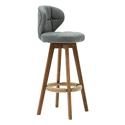 Klassieke bureaustoel met draaibare rugleuning van massief hout.