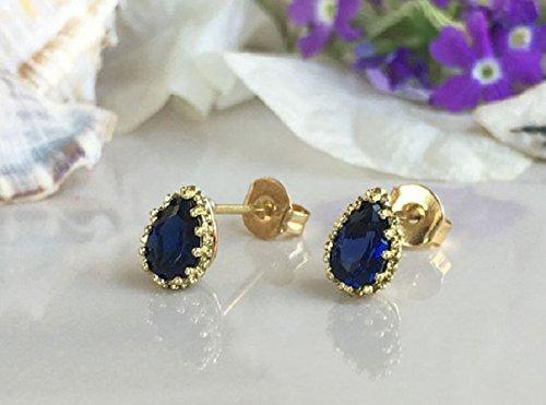 Sapphire Cluster Earrings September Birthstone Earrings Smoky Quartz Dangle Earrings