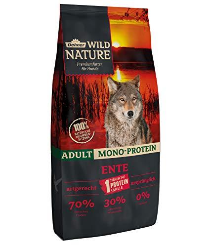 Dehner Wild Nature Hundetrockenfutter Adult, Mono-Protein, Ente, 12 kg