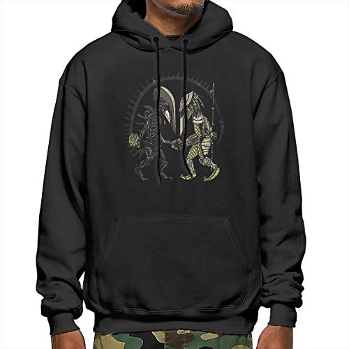 New Novelty Predator Alien Scary Fall Spy Vs Spy Men's Fashion Athletic Hoodies Sport Pullover Sweatshirt M Black