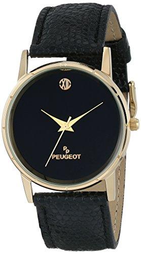 Peugeot Men's 2043BK Analog Display Japanese Quartz Black Watch
