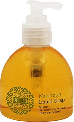 1x UMIDO Flüssigseife Spender 150 ml Moringa   Händewaschen   Seife aus dem Pumpspender   Handseife für Pflege & Hygiene   Pflegeseife   Handwaschseife