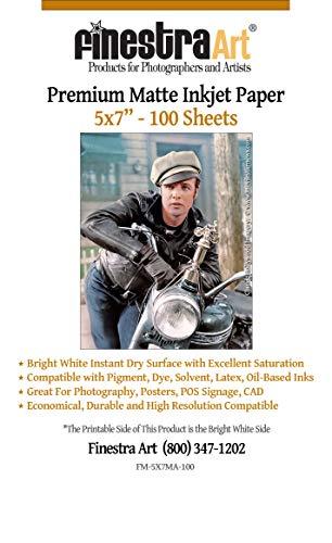 5″ X 7″ Premium Arctic Matte Inkjet Photo Paper –...