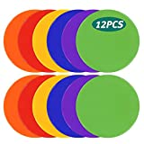 UQXY Spot Markers 10 Inch Non Slip Rubber Agility Markers Flat Field Cones Floor Dots for ...