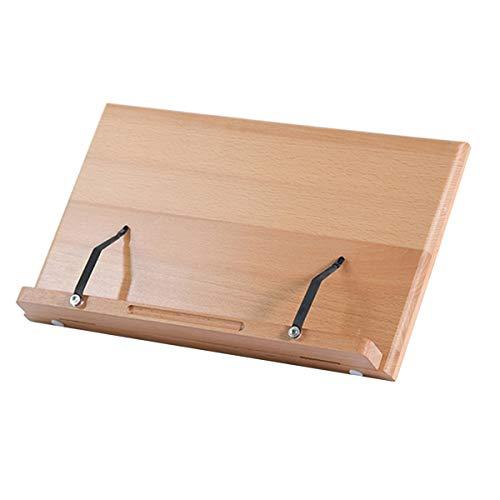 Holz Bücherständer Klappbare Lesestütze Halter Kochbuch Kochständer Musik Bücherständer Schreibtisch Bücherstütze mit 5 Einstellbaren Winkel